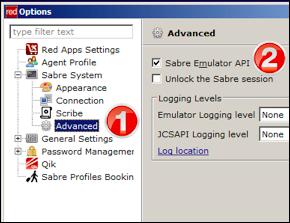 Activating Sabre API in Sabre Red Workspace (prior to Sabre Red 360